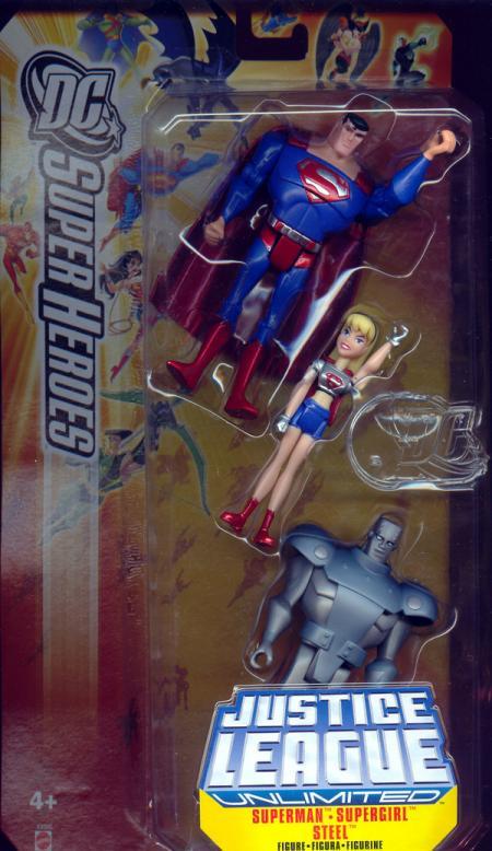 Superman, Supergirl Steel 3-Pack