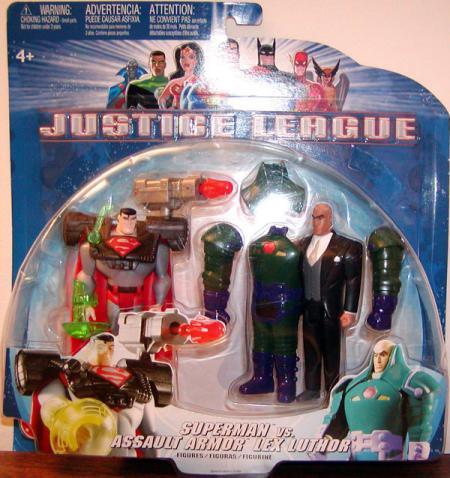 Superman vs Assault Armor Lex Luthor Justice League