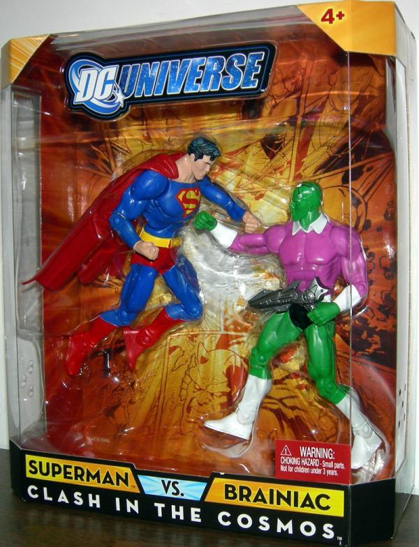 Superman vs Brainiac Clash Cosmos DC Universe action figures