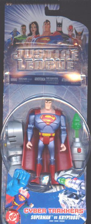 Superman vs Kryptobot Cyber Trakkers