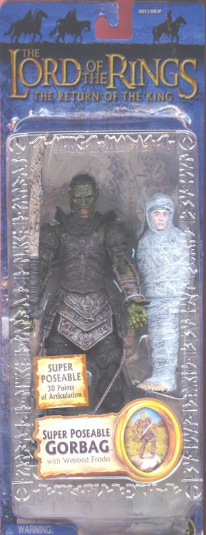 Super Poseable Gorbag Figure Lord Rings Trilogy Toy Biz