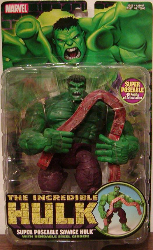 Super Poseable Savage Hulk action figure