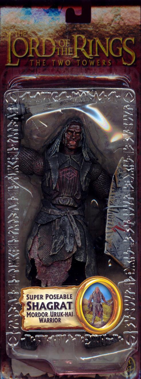 Super Poseable Shagrat Mordor Uruk-hai Warrior Figure Trilogy