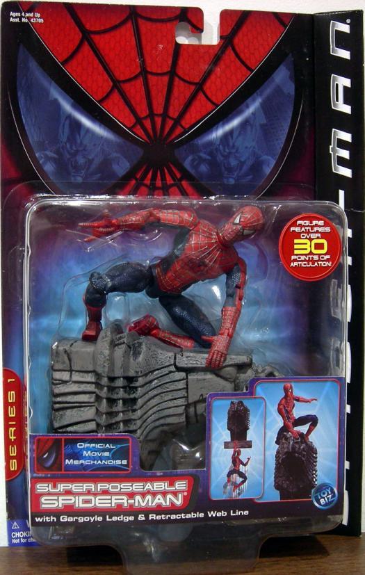 Super Poseable Spider-Man Movie Action Figure Toy Biz