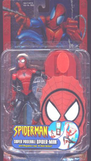 Super Poseable Spider-Man Figure Magnetic Leap N Stick Action Toy Biz