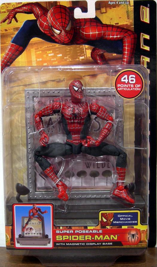 Super Poseable Spider-Man 2 Figure Magnetic Display Base