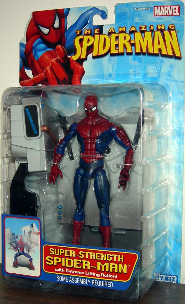 Super-Strength Spider-Man Action Figure Extreme Lifting Action Amazing