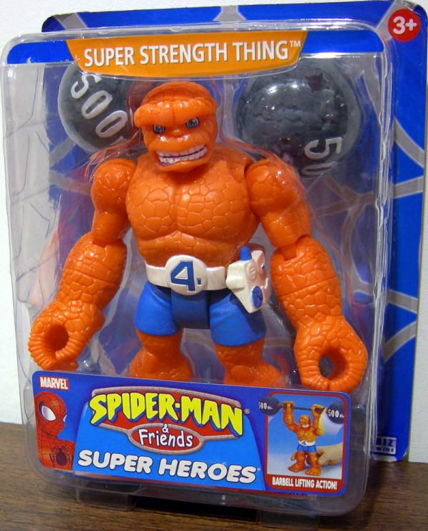 Super Strength Thing Action Figure Spider-Man Friends