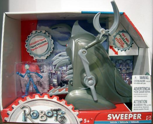 Sweeper Vehicle Robots Movie Mattel