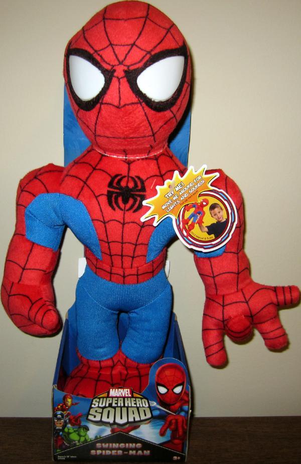 15 inch Swinging Spider-Man Plush, Super Hero Squad