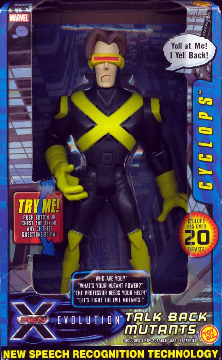 9 inch Talk Back Mutants Cyclops, Evolution