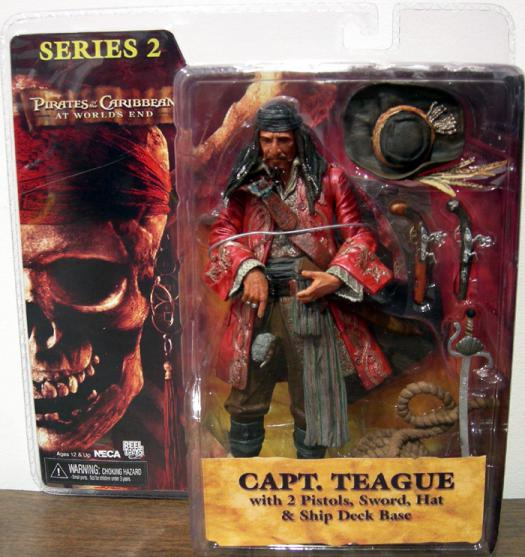 Capt Teague Worlds End Series 2 Pirates Caribbean action figure
