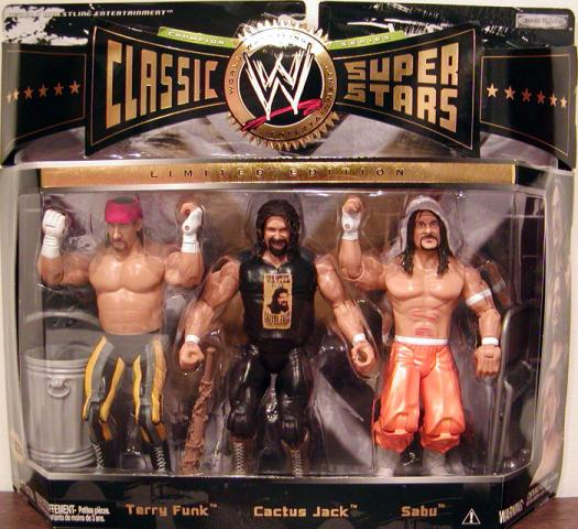 Terry Funk Cactus Jack Sabu Figures WWE Classic Super Stars