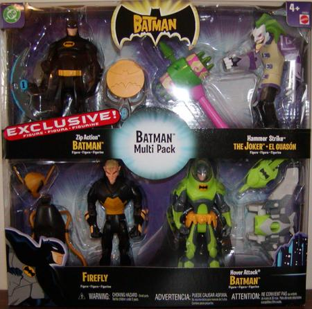 The Batman 4-Pack Zip Action Batman repaint