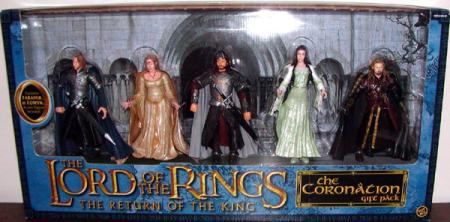 Coronation Gift Pack Figures Lord Rings Return King