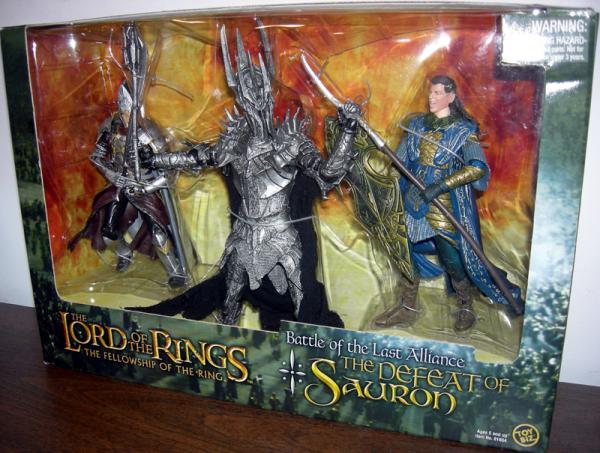 Battle Last Alliance Defeat Sauron Figures Toy Biz