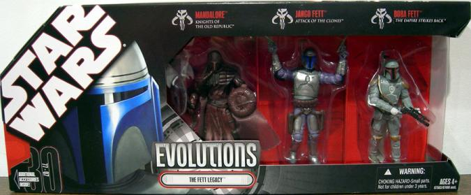 The Fett Legacy 3-Pack Evolutions