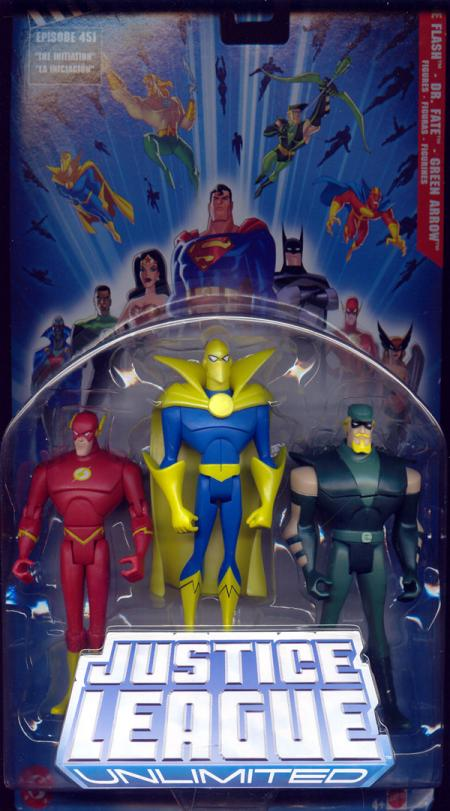 The Flash, Dr Fate Green Arrow 3-Pack Justice League Unlimited