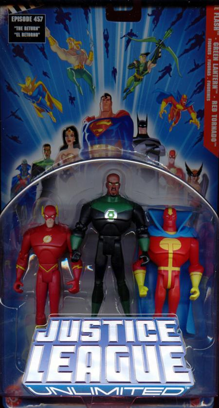 The Flash, Green Lantern Red Tornado 3-Pack Justice League Unlimited