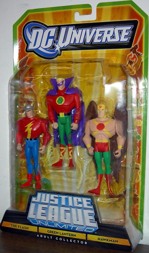 Flash Green Lantern Hawkman Figures DC Universe JLU