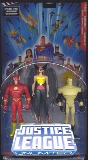 The Flash, Hawkgirl Waverider 3-Pack Justice League Unlimited