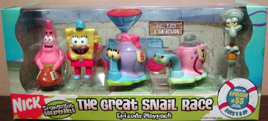 The Great Snail Race Episode Playpack SpongeBob Action Figures
