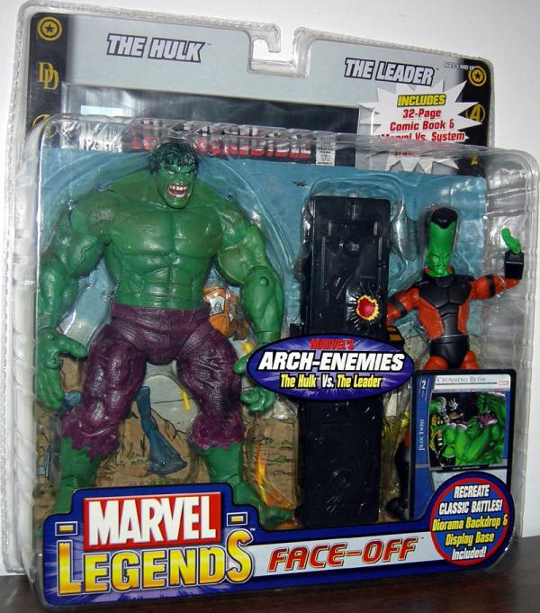 Hulk vs Leader Marvel Legends Variant Face-Off action figures