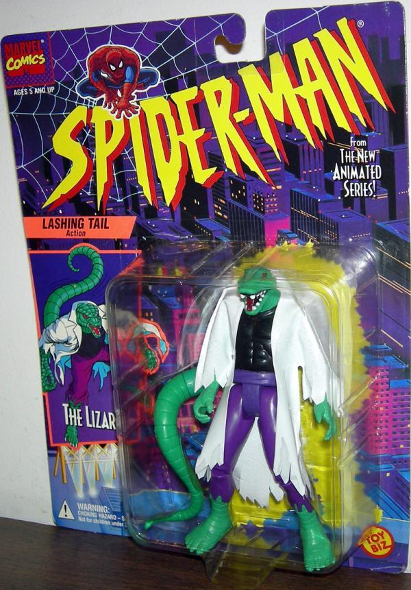 Lizard Figure Spider-Man Animated Black Shirt