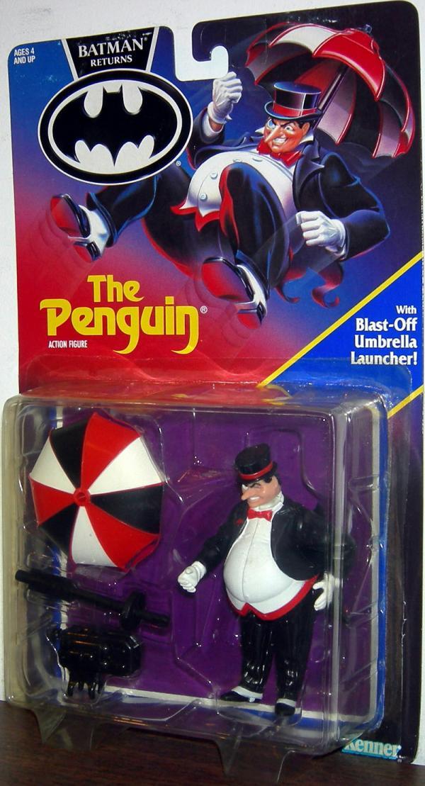 Penguin Figure Batman Returns Movie Blast-Off Umbrella