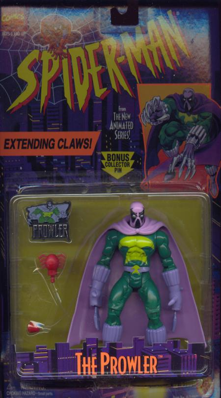 Prowler Figure Spider-Man Animated Toy Biz