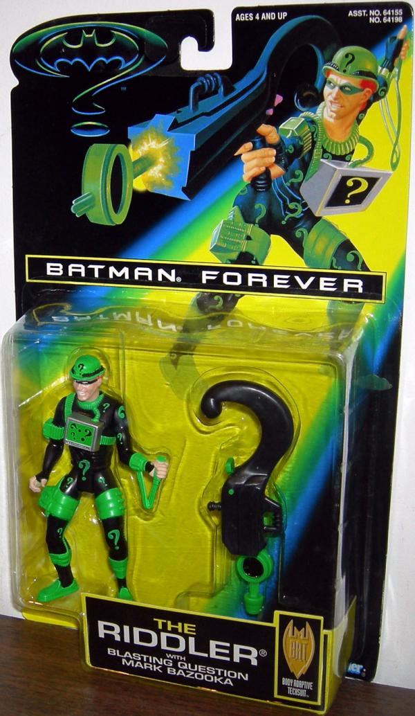 Riddler Figure Black Batman Forever Movie Kenner