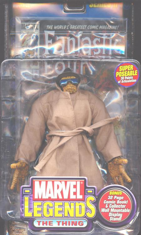The Thing Marvel Legends trench coat
