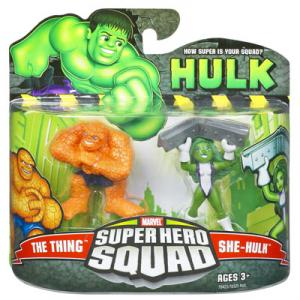Thing She-Hulk Figures Super Hero Squad Hasbro