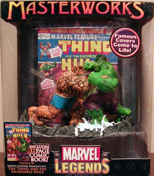 The Thing Incredible Hulk Marvel Legends Masterworks action figures