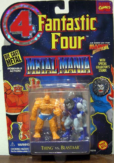 Thing vs Blastaar Figures Metal Mania Fantastic Four 4