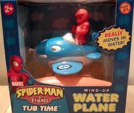 Thing Wind-Up Water Plane Spider-Man Friends Tub Time action figure vehicle