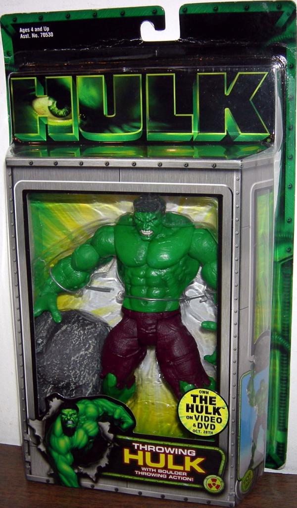 Throwing Hulk Movie Boulder Action figure