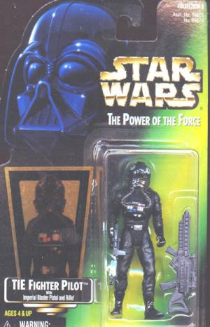 TIE Fighter Pilot Green Card Star Wars Power Force action figure