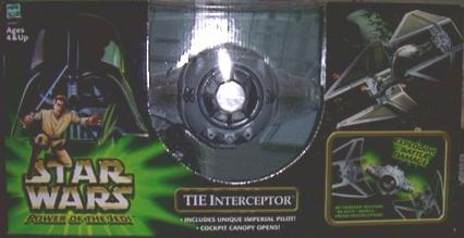 TIE Interceptor Star Wars Power Jedi action figure vehicle