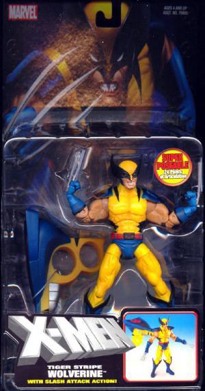 Tiger Stripe Wolverine Action Figure X-Men Slash Attack Toy Biz