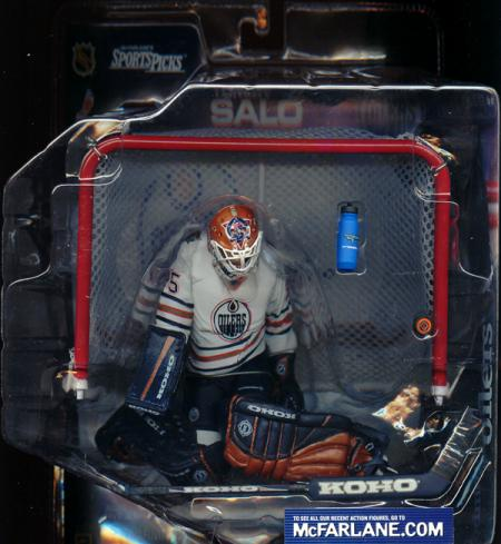 Tommy Salo White Jersey McFarlane SportsPicks Edmonton Oilers action figure