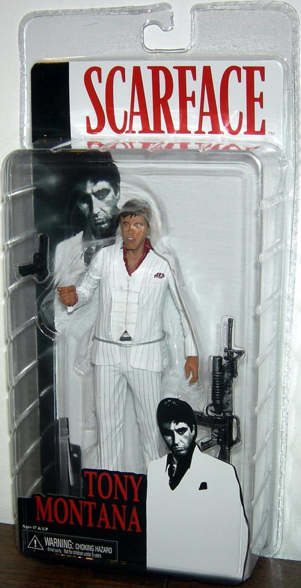 Tony Montana White Suit Scarface action figure