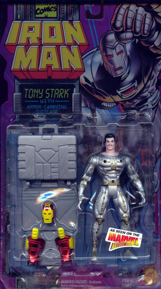 Tony Stark Armor Carrying Suitcase Iron Man Animated action figure