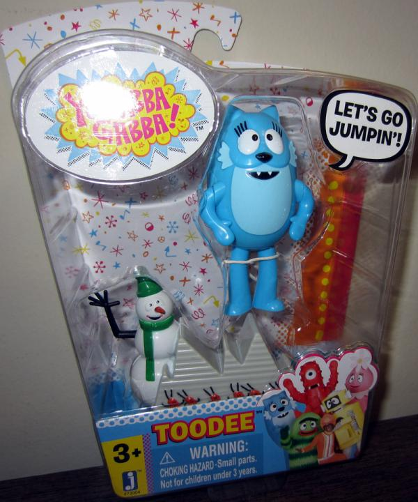 Toodee Action Figure with Snowman Yo Gabba Gabba Jazwares