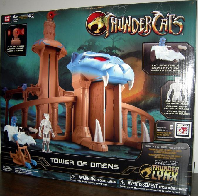 Tower Omens Thundercats Exclusive Tygra Figre playset