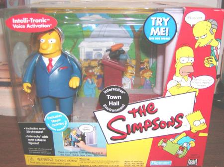 Town Hall Playset Exclusive Mayor Quimby Figure Simpsons