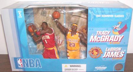 Tracy McGrady 2 vs LeBron James 2 McFarlanes SportsPicks action figures