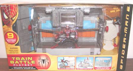 Train Battle Playset Spider-Man 2 Movie Exclusive Magnetic action figure