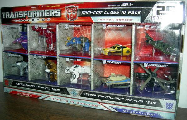 Transformers Universe Mini-Con Class 10 Pack Armada Series action figures