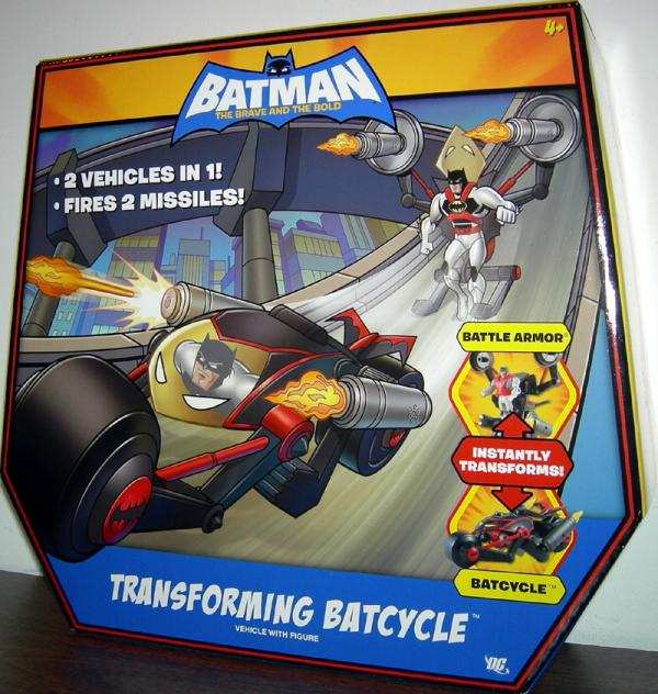 Transforming Batcycle Batman Brave Bold action figure vehicle